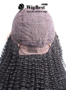 Best Afro Curl Human Hair Lace Front Wigs Cap Design Back