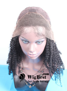 Best Afro Curl Human Hair Lace Front Wigs Cap Design Front
